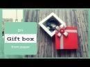 DIY КОРОБОЧКА С БОРТИКАМИ ДЛЯ ЖГУТА 🌺 TULINA How to make a gift box Shadow Box кутия pudełko Kutu