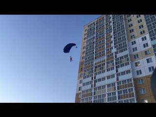 Прыжок с 18 этажа в Челябинске