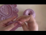 Овальный мотив вязанный крючком с сеточкой и обвязкой из медальонов. Ирландское кружево. Видео-урок.