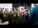 Хор МВД исполняет Get Lucky в прямом эфире(Vine Video)