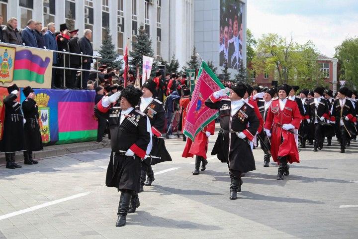 Казаки Зеленчукского района приняли участие в параде Кубанского казачьего войска