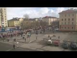 Североморск. Демонстрация трудящихся в День города.