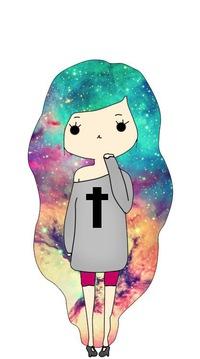 Девочка с космическими волосами
