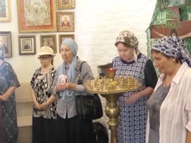 Престольный праздник в храме прп. Александра Куштского в поселке Янги-Чиназ .