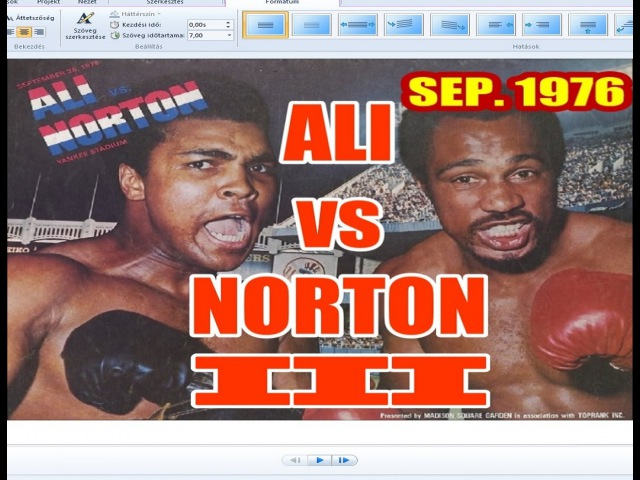 Muhammad Ali vs Ken Norton III 55th of 61 - Sep. 1976 The Rubber Match