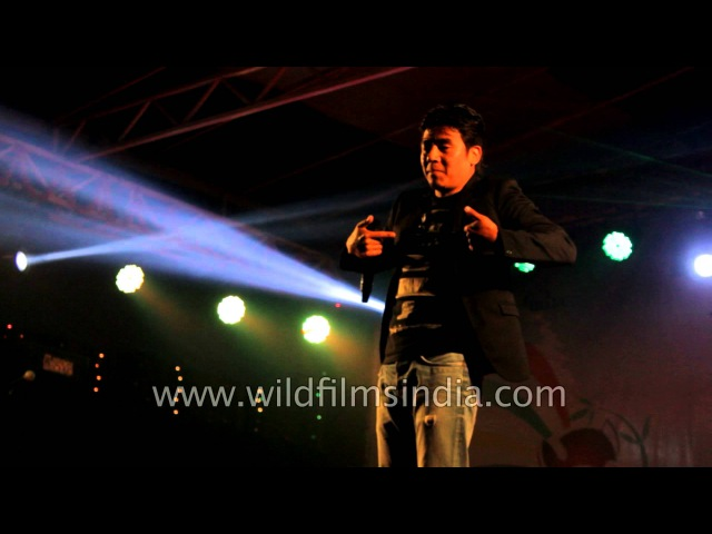 Nepali singer Mingma Sherpa performs in Sikkim