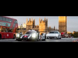 2017 Porsche 919 Hybrid meets 2017 Panamera 4 E Hybrid