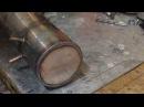 Сварка TIG аргоном бака из нержавеющей стали