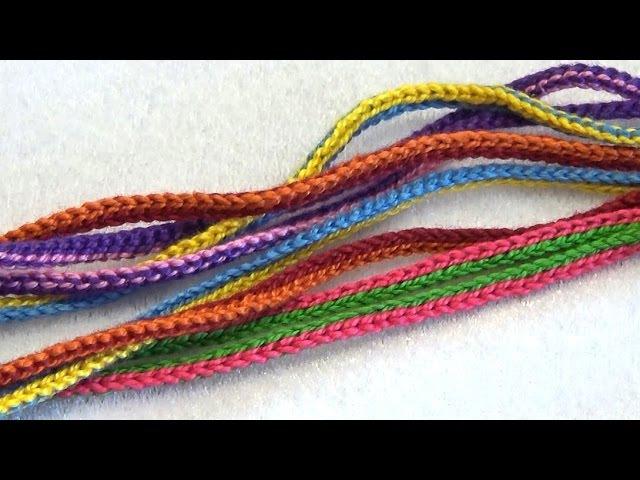 Как связать шнур для слингобус (МК №5) Crochet Cord for Necklace