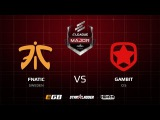 fnatic vs Gambit, map 3 dust2, ELEAGUE Major