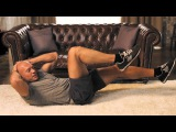 Пресс: диагональные скручивания на полу   Домашние тренировки с Денисом Семенихиным #3 ghtcc: lbfujyfkmyst crhexbdfybz yf gjke  