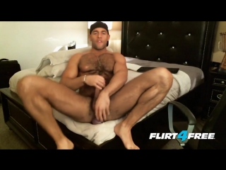 Hairy hunk sean zevran dildos his ass and cums twice