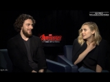Elizabeth Olsen &amp Aaron Taylor Johnson on House of M, Quicksilver &amp More _ Avengers 2_ Age of Ultron Rus Sub Rus Sub