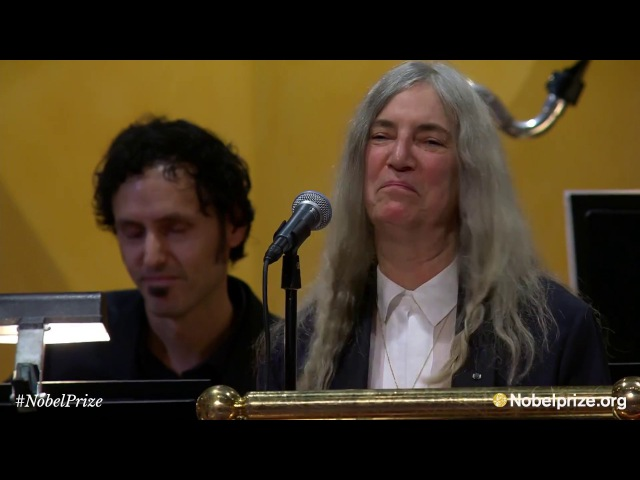 Patti Smith performs Bob Dylan's A Hard Rain's A-Gonna Fall - Nobel Prize Award Ceremony 2016