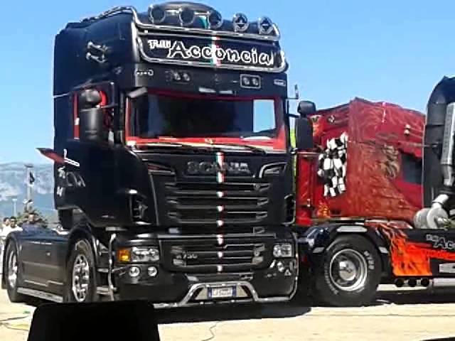 Scania Acconcia Absolute e Black Amber rientro circuito di Battipaglia!
