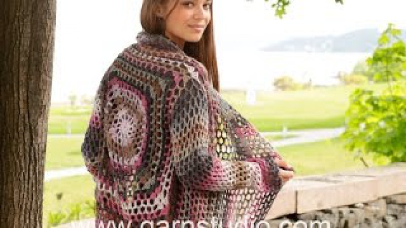 How to start the crocheted jacket with lace pattern in DROPS 156-42