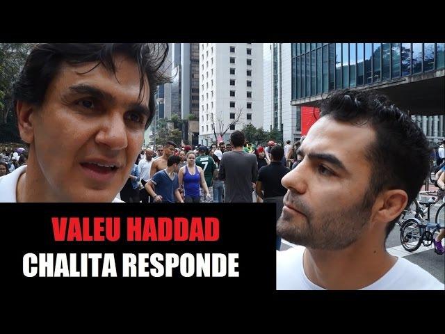 Chalita Responde Mamaefalei - Valeu Haddad 09/10/2016 - Av. Paulista