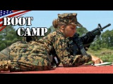 Female Recruits M16A4 Rifle Marksmanship Training USMC Boot Camp -