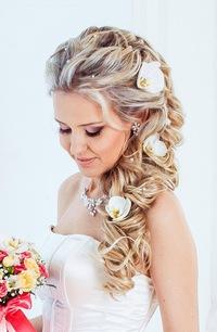 Прическа свадебная с накладными прядями фото