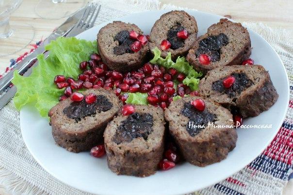 Рулеты из говядины с черносливом в духовке