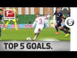 Чемпионат Германии 2016-17 / Лучшие голы 23-го тура / Топ-5 [HD 720p]