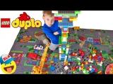Конструктор Лего Дупло Строим НЕБОСКРЕБ БОЛЬНИЦУ Подъемным краном Видео для детей Lego Duplolego duplo стройка небоскреба