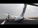 Жесткая посадка в аэропорту Амстердама + видео из салона СМОТРЕТЬ до КОНЦА 24.02.2014