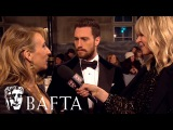 Sam &amp Aaron Taylor-Johnson Red Carpet Interview  BAFTA Film Awards 2017