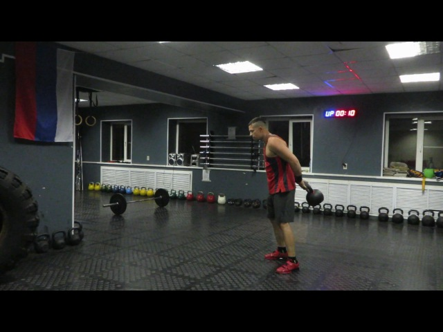 Гиря Ка4. Гиревой комплекс Алеша Попович. 32 кг Kettlebell CrossFit Wod