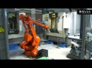 Svia FeedLine at Husqvarna AB with ABB IRB 4400 Robot tending Chiron CNC