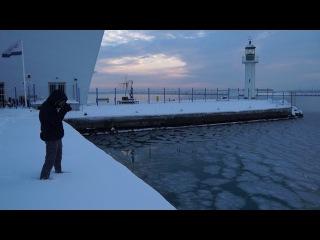 Замръзналото море в Бургас / Frozen Sea in Burgas