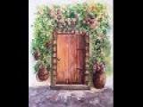 Рисуем листву, тень. Cottage Door. How to paint shadows, foliages