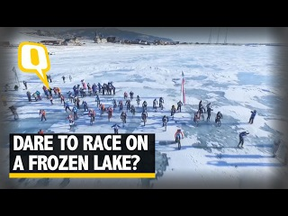 The Quint: Dare to Race on a Frozen Baikal Lake? These Russians Do