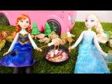 Кукла Эльза и Анна. Пикник с Барби. Видео для детей на английском языке