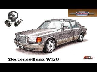 City Car Driving 1.5.1 Mercedes-Benz 560 SEL W126 - тест-драйв, обзор автомобиль мечты восьмидесятых