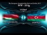 Vanesa KALADZINSKAYA (BLR) df  Anzhela DOROGAN (AZE),1/4 Final  53 kg