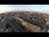 Колесо, ТГУ  и лес весной 2017 с Тольяттинского неба