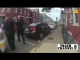 Полиция США трамбует малолетку за прогулы в школе. Драка, прикол,розыгрыш, скайп, школьница, клип 2016,авария, рулетка,перископ