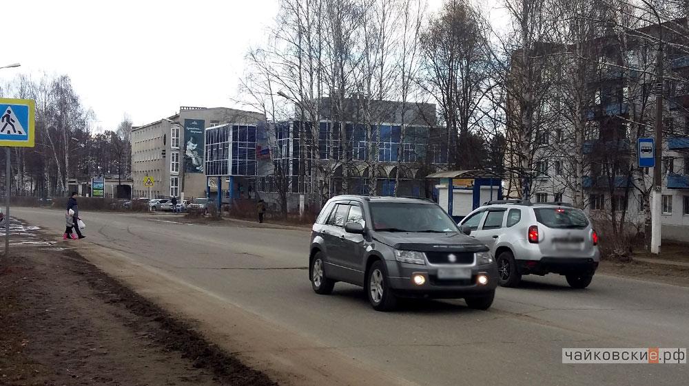 пешеходный переход на ул. Ленина, Чайковский, 2017 год