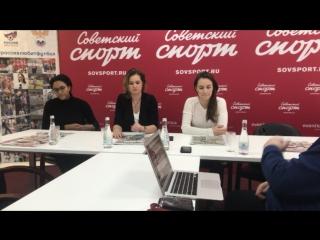 Встреча с серебряными медалистками ЧМ по керлингу в редакции