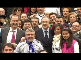 Florentino Pérez led a meeting of fan clubs in Éibar