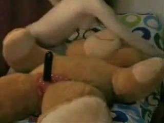 Секс с плющевым мишкой