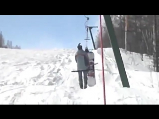 How not to ride a t-bar!