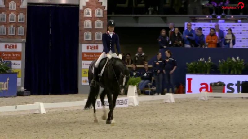 JA 2017 Dinja van Liere Total U S finale Subli Cup 4 jarige paarden