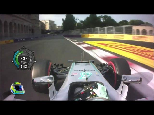 Nico Rosberg Onboard Pole Lap - F1 2016 Baku [HD]