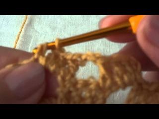 Филейное вязание. Вязание крючком с нуля. Урок 18.