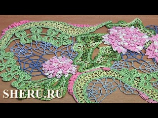 Irish Crochet Spider Lace Урок 8 Ирландское кружево с паутинками