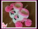 Пинетки с розочками или как связать пинетки спицамиhow to knit booties spokes