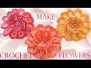 😍 Como tejer fácil y rápido flores de colores de una sola tira How to make flowers crochet
