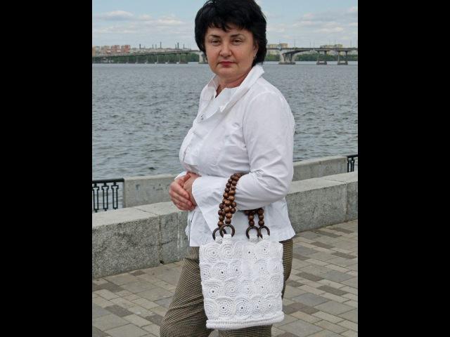 Вязаная крючком сумка корзинка ч2. Crochet Bag basket Part 2
